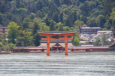 Torii Gate Of Miyajima Print by Laura Palmer