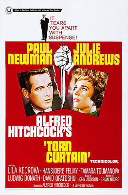 Films By Alfred Hitchcock Photograph - Torn Curtain, Us Poster Art, Top Alfred by Everett