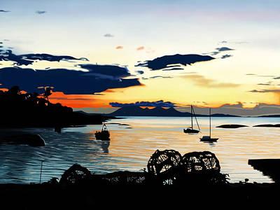 Andrew Harrison Digital Art - Torn Sunset by Andrew Harrison