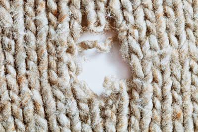 Torn Wool Print by Tom Gowanlock