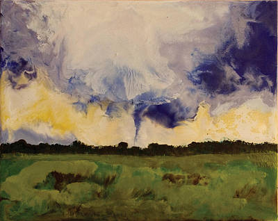 Encaustic Painting - Tornado - Clay Az by Marilyn Fenn