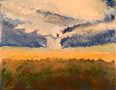 Encaustic Painting - Tornado - Erie Ks - November 27 2005 by Marilyn Fenn