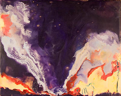 Encaustic Painting - Tornado - Ok - July 2 1999 by Marilyn Fenn
