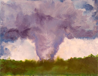 Encaustic Painting - Tornado - Stoughton Wi - August 18 2006 by Marilyn Fenn