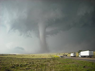 Tornado Truck Stop Print by Ed Sweeney