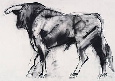 Bull Pastel - Toro Azul   Study by Mark Adlington