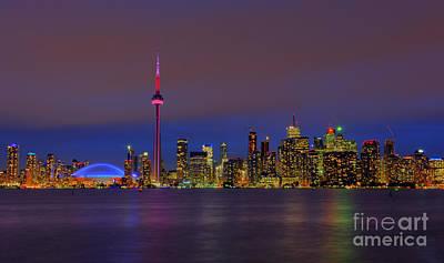 Metro Art Photograph - Toronto By Night... by Nina Stavlund