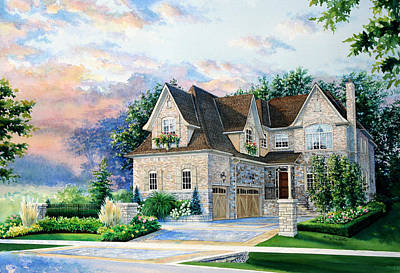 Toronto Family Home Print by Hanne Lore Koehler