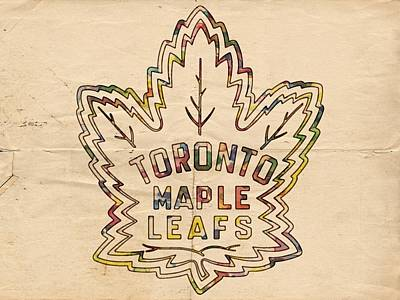 Toronto Maple Leafs Painting - Toronto Maple Leafs Retro Poster by Florian Rodarte