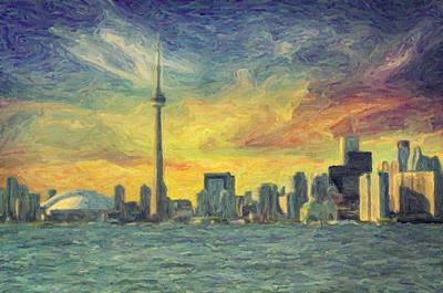 Impressionist Photograph - Toronto  by Taylan Apukovska