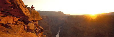 Contemplating Photograph - Toroweap Point Grand Canyon National by Panoramic Images