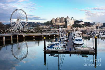 Seaside Photograph - Torquay Marina And Ferris Wheel by Terri Waters