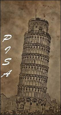 Torre De Pisa Print by Dan Sproul