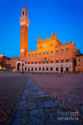 Torre Del Mangia Print by Inge Johnsson