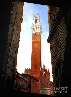 Torre Del Mangia Siena Print by Mike Nellums