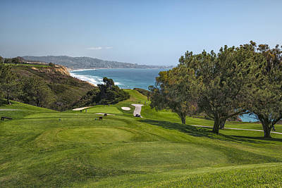California Beach Art Photograph - Torrey Pines Golf Course North 6th Hole by Adam Romanowicz