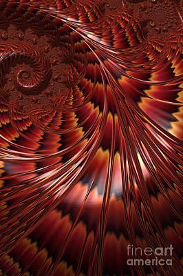 Mysterious Digital Art - Tortoiseshell Abstract by John Edwards