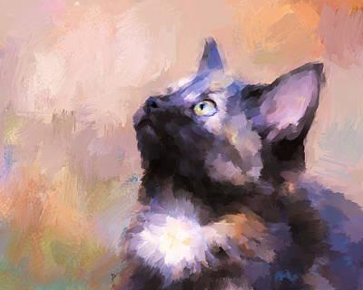 Kitten Painting - Tortoiseshell Kitten #3 by Jai Johnson