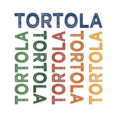 Tortola Cute Colorful Print by Flo Karp