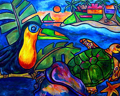Toucan Painting - Tortuga Eco Tour by Patti Schermerhorn