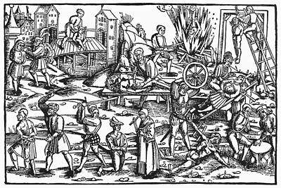 Beheading Painting - Torture Of Heretics, 1512 by Granger