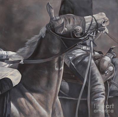 Racehorse Painting - Toss by Linda Shantz