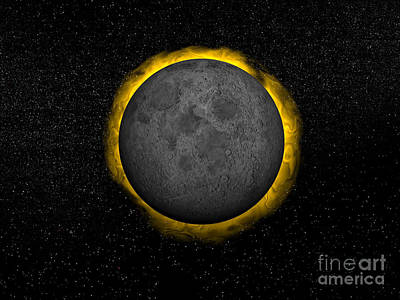 Total Eclipse Of The Sun Print by Elena Duvernay