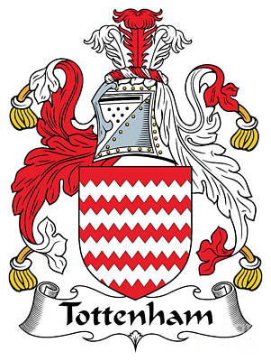Tottenham Digital Art - Tottenham Coat Of Arms Irish by Heraldry