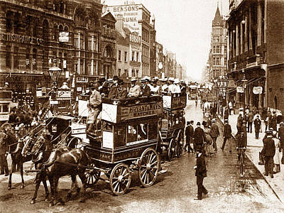 Tottenham Photograph - Tottenham Court Road London England by The Keasbury-Gordon Photograph Archive