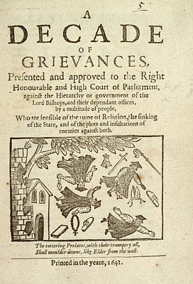 Tottering Prelates Print by British Library