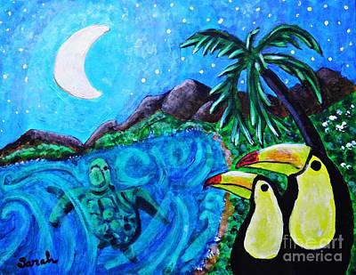 Toucan Painting - Toucan Bay by Sarah Loft