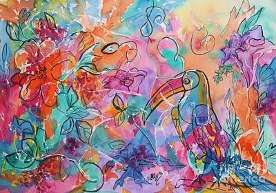 Toucan Mixed Media - Toucan Dreams by Ellen Levinson