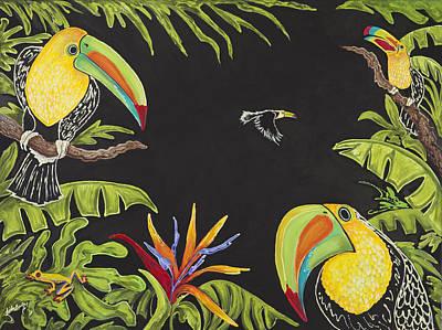 Toucan Fun Print by Nickie Bradley