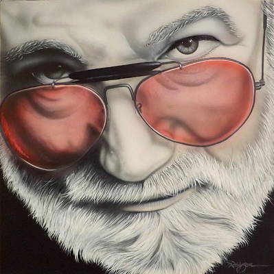 Jerry Garcia Painting - Touch Of Grey by Darren Robinson