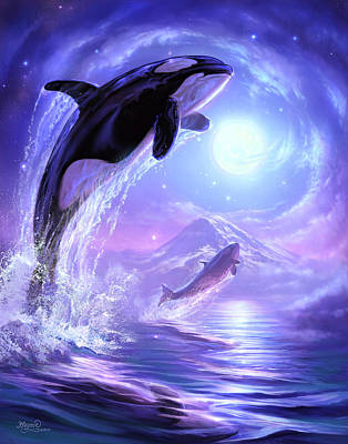 Orca Painting - Touch The Sky by Jeff Haynie