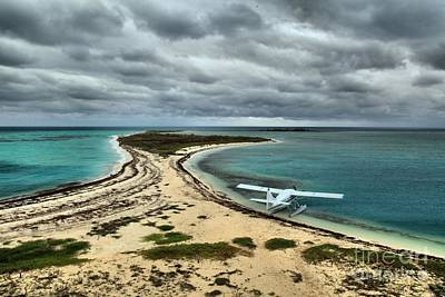 Touchdown At Tortugas Print by Adam Jewell