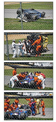 Marco Andretti Photograph - Tough Day For #26 by James Mock