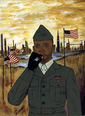 Us Flag Mixed Media - Tough Duty by Delvon