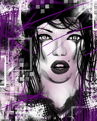 Fear Mixed Media - Tough Love Purple by Melissa Smith