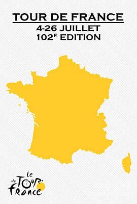 Sprinting Digital Art - Tour De France 2015 by Celestial Images