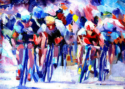 Cycles Painting - Tour De France by Mark Hartung