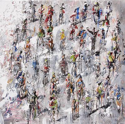 Tour De France Stage 2 Print by Neil McBride