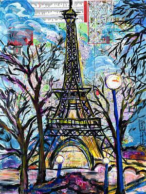 Tour Eiffel Vue De L'aquarium Print by Everett Spruill