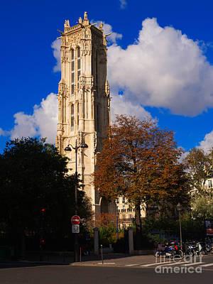 Jacques Photograph - Tour St Jacques Paris by Louise Heusinkveld