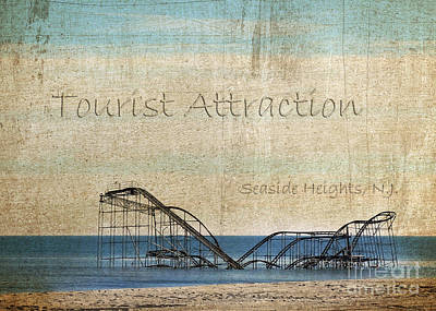 Seaside Heights Digital Art - Tourist Attraction by Sami Martin