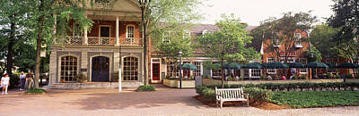 Outdoor Cafes Photograph - Tourist In Town Square, Williamsburg by Panoramic Images