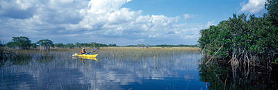 Tourist Kayaking In A Pond, Nine-mile Print by Panoramic Images