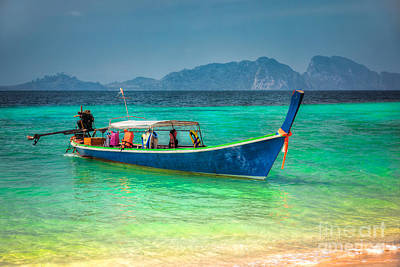 Ko Photograph - Tourist Longboat by Adrian Evans