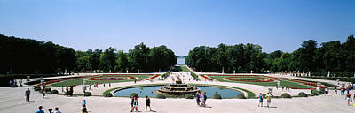 Chateau Photograph - Tourists Around A Fountain, Versailles by Panoramic Images