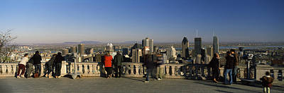 Tourists At An Observation Point Print by Panoramic Images